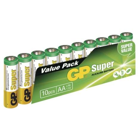 10 ks Alkalická baterie AA GP SUPER 1,5V