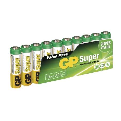 10 ks Alkalická baterie AAA GP SUPER 1,5V