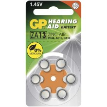 6 ks Baterie do naslouchadel ZA13 GP HEARING AID 1,45V/290 mAh