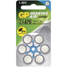 6 ks Baterie do naslouchadel ZA675 GP HEARING AID 1,45V/630 mAh