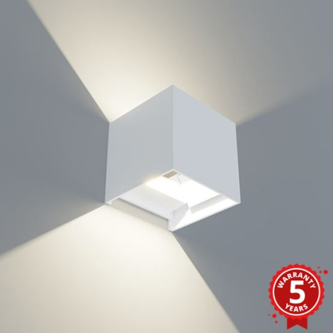 APLED - LED Venkovní  nástěnné svítidlo CUBE LED/3W/230V IP65 bílá