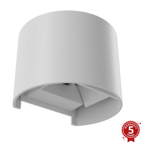 APLED - LED Venkovní nástěnné svítidlo OVAL LED/3W/230V  IP65 bílá