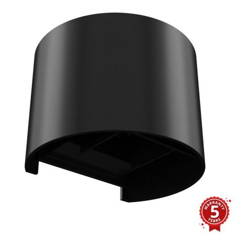 APLED - LED Venkovní nástěnné svítidlo OVAL LED/3W/230V  IP65 černá