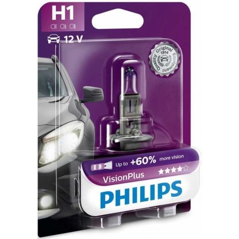 Autožárovka Philips VISION PLUS 12258VPB1 H1 P14,5s/55W/12V