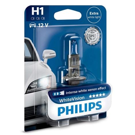 Autožárovka Philips WHITE VISION 12258WHVB1 H1 P14,5s/55W/12V