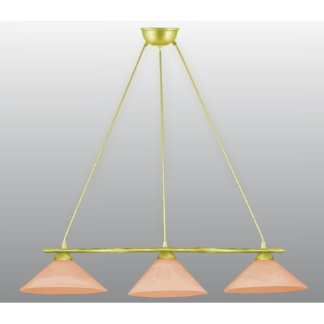 BAZAR - Lustr na lanku EKO 3xE27/60W oranžová