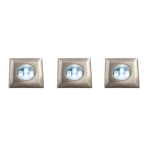 Bright Light 59056/17/15 - SADA 3x LED koupelnové podhledové svítidlo LED/0,39W/230V
