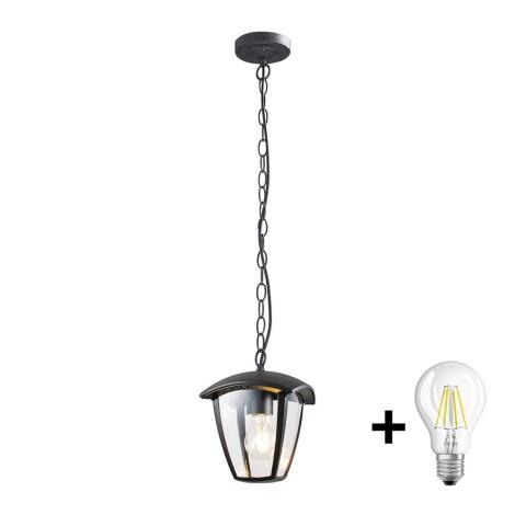 Brilagi - LED Venkovní závěsné svítidlo LUNA 1xE27/8W/230V IP44