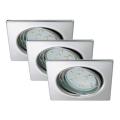 Briloner 7230-038 - SADA 3x LED Koupelnové podhledové svítidlo 3xGU10/3W/230V
