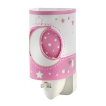 DALBER D-63235LS - LED Lampička do zásuvky PINK MOON LED/0,5W