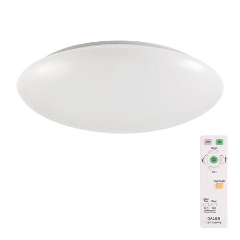 DALEN DL-C515TXW - LED Stmívatelné stropní svítidlo s dálkovým ovladačem SMART 1xLED/56W/230V
