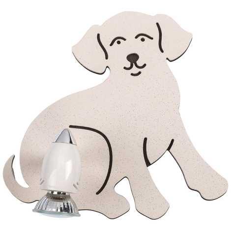 Dětské bodové svítidlo DOG 1xGU10/35W/230V