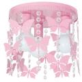 Dětské stropní svítidlo ELZA butterflies 3xE27/60W/230V růžová