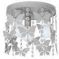 Dětské stropní svítidlo ELZA butterflies 3xE27/60W/230V šedá