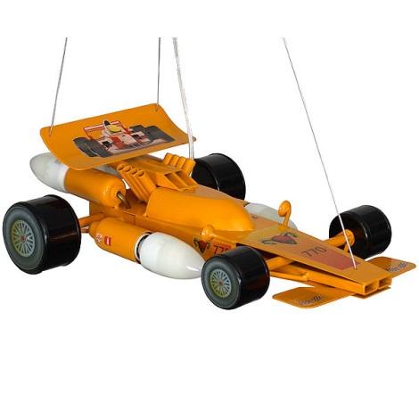 Dětský lustr Formule 4xE14/60W žlutá