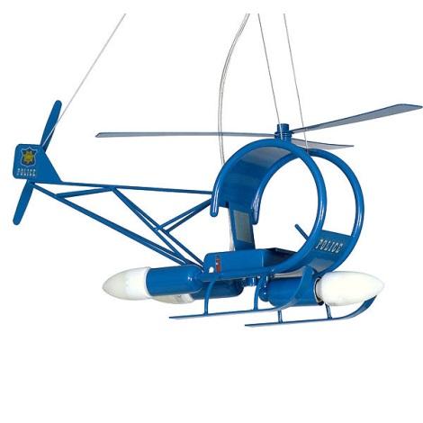 Dětský lustr Helikoptéra 3xE14/60W modrá