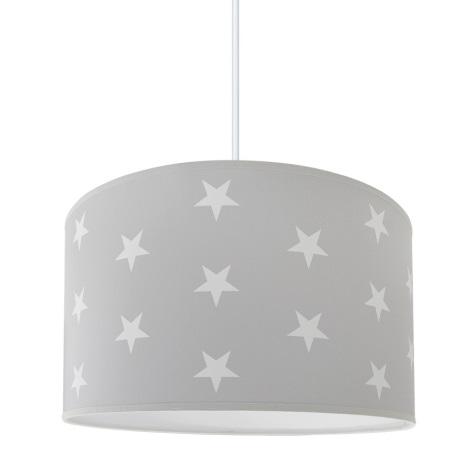 Dětský lustr STARS GREY 1xE27/60W/230V