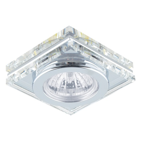Downlight Family 1xGU10/50W Chrom/křišťál čtverec A