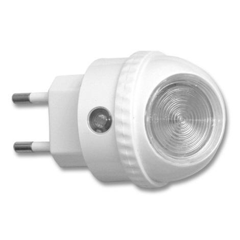 Ecolite XLED-NL/BI - LED Orientační svítidlo do zásuvky s čidlem LED/0,4W/230V
