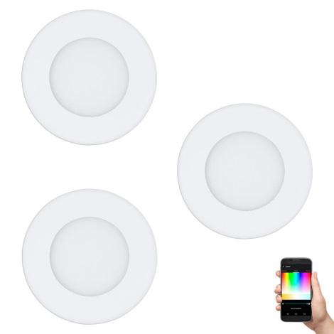 Eglo 32881 - SADA 3x LED RGB Podhledové svítidlo FUEVA-C 3xLED/3W/230V