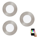 Eglo 32882 - SADA 3x LED RGB Podhledové svítidlo FUEVA-C 3xLED/3W/230V