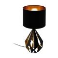 Eglo 43077 - Stolní lampa CARLTON 1xE27/60W/230V černá