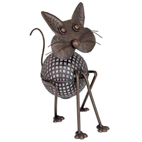 EGLO 47533 - Solární osvětlení kočička 1xLED/0,06W bronz