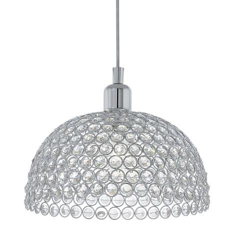Eglo 78349 - Křišťálový lustr na lanku GILLINGHAM 1xE27/60W/230V