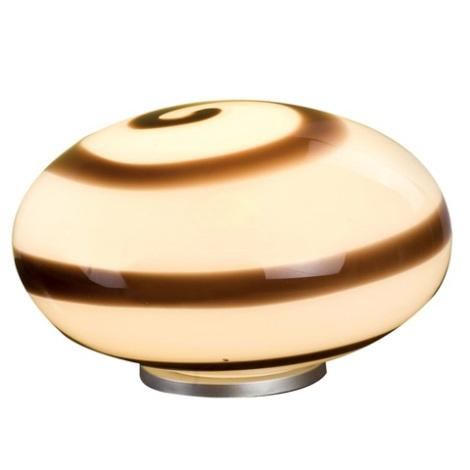 EGLO 87282 - Stolní lampa NARO 1xE27/60W hnědá/ bílá