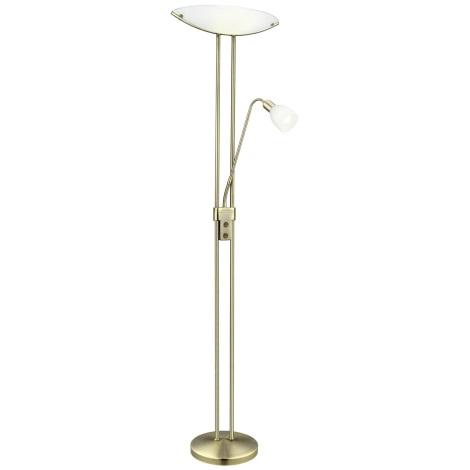 EGLO 89784 - Stojací lampa BAYA 2 2xE27/18W+1xE14/7W