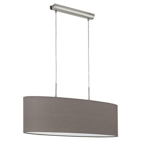 Eglo 96382 - Závěsné svítidlo PASTERI 2xE27/60W/230V hnědá 750mm