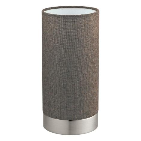 Eglo 96387 - Stmívatelná stolní lampa PASTERI 1xE27/40W/230V hnědá