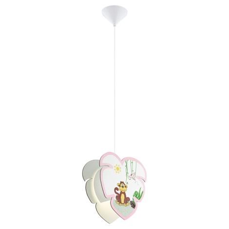 Eglo 96951 - Dětský lustr na lanku LOUIE 1xE27/60W/230V