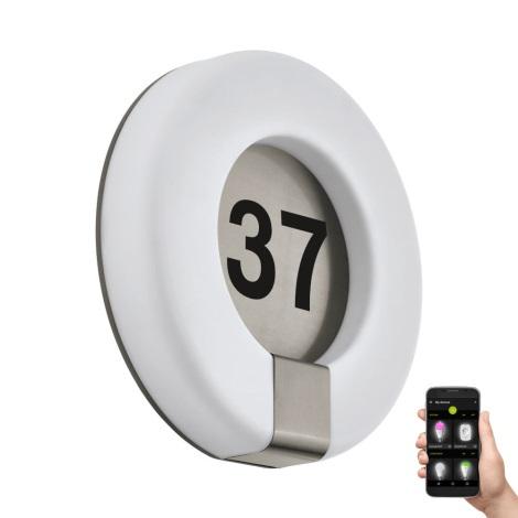 Eglo 98145 - LED RGB Domovní číslo MARCHESA-C LED/15W/230V IP44