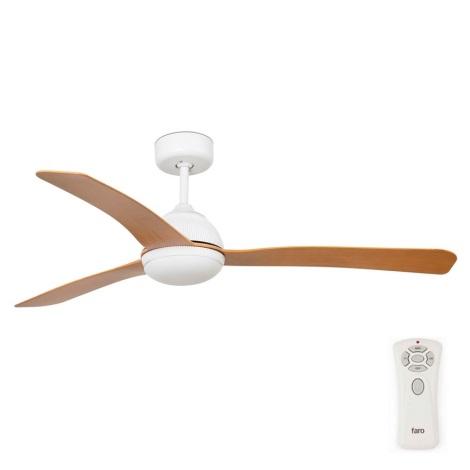 FARO 33341 - Stropní ventilátor GRID bílá/hnědá