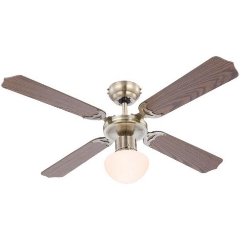 GLOBO 0309 - Stropní ventilátor CHAMPION 1xE27/60W/230V
