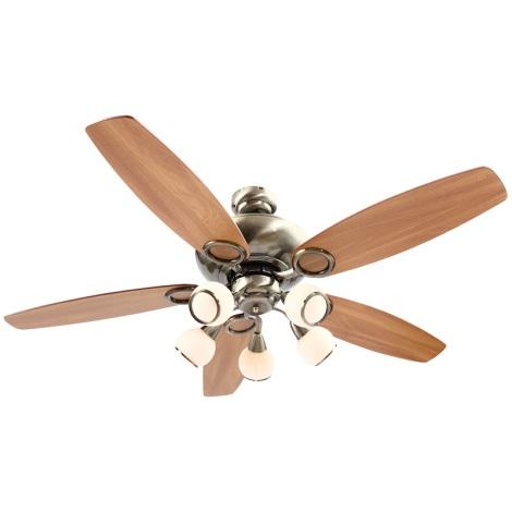 GLOBO 0336 - Stropní ventilátor MISTRAL 5xE14/40W/230V