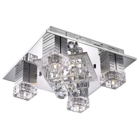 GLOBO 68302-6 - LED Stropní svítidlo ESTELLE 6xG4/20W/12V + 20 LED/0,06W/3V + 33 LED/0,13W/5V