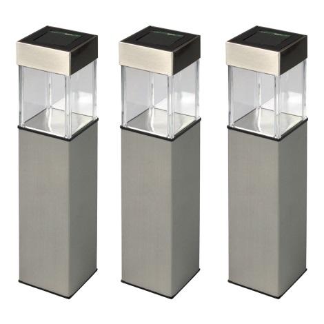 Grundig 90048 - SADA 3x Solární lampa LED/5,5x28cm