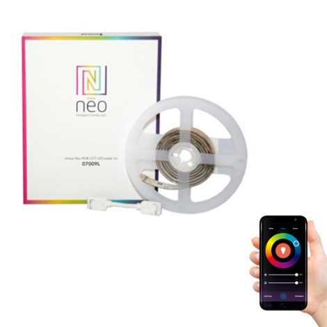 Immax NEO 07009L - LED RGB Stmívatelný pásek LED-RGB/24V IP65 1m ZigBee Tuya