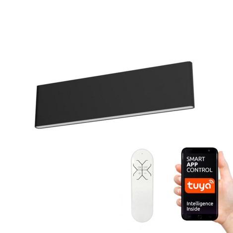 Immax NEO 07086L - LED Stmívatelné nástěnné svítidlo LISTON LED/8W/230V černá Tuya