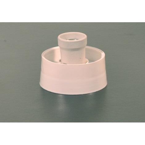 Kopyto  1xE27/60W bílá keram/plast