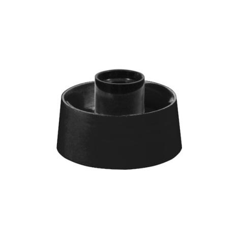 Kopyto  1xE27/60W černý plast