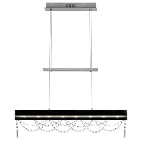 Křišťálový lustr SKADE 8xG4/20W černá