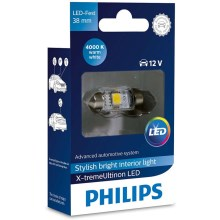 LED Autožárovka Philips X-TREME ULTINON 128584000KX1 LED C5W/12V 4000K