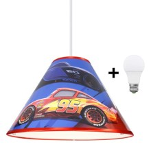 LED Lustr na lanku DISNEY CARS 1xE27/40W/230V