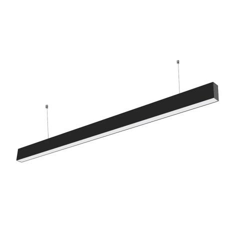 LED Lustr na lanku SAMSUNG CHIP 1xLED/40W/230V černá