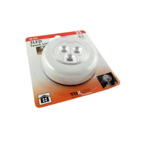 LED Noční dotykové světlo LED/0,2W/3xAAA bílá