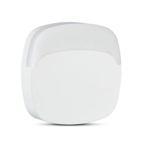 LED Noční světlo se senzorem SAMSUNG CHIP LED/0,5W/230V 65mm 4000K hranatý