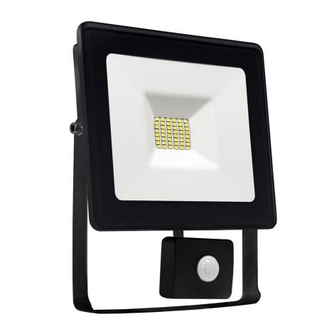 LED Reflektor se senzorem NOCTIS LUX SMD LED/10W/230V IP44 900lm černá